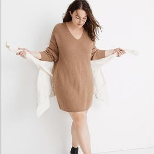 NWT Madewell Relaxed V-Neck Sweater Dress